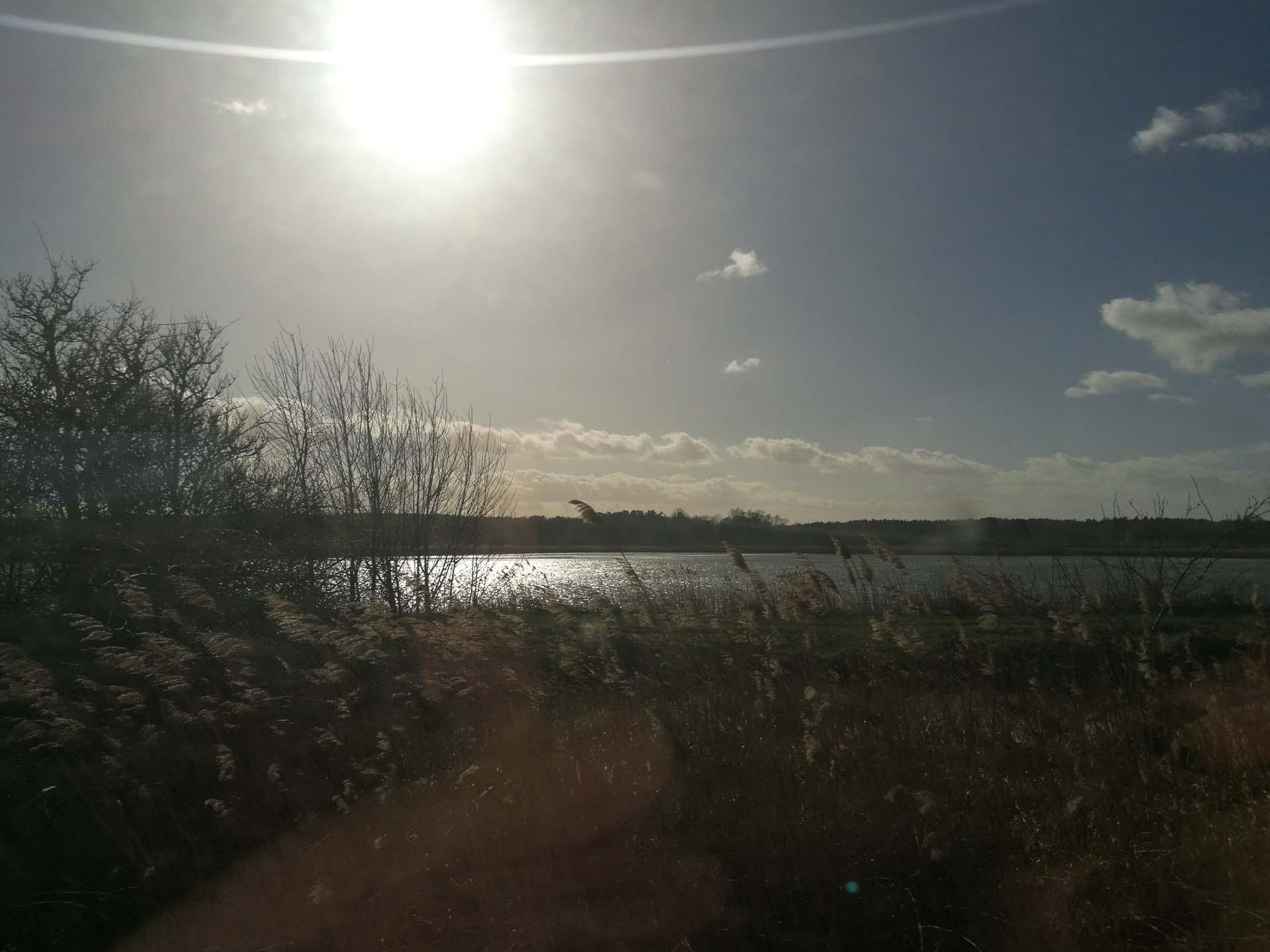 Sonne auf der Rückfahrt vom Zug aus...fühl mich leicht veräppelt